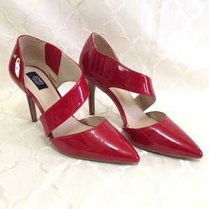 🆕 Jones New York Heels Red Stiletto Pointy Toe